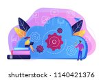 developers using laptop and... | Shutterstock .eps vector #1140421376