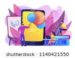 professor teaching sudents... | Shutterstock .eps vector #1140421550