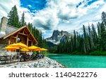 banff  alberta  canada   june... | Shutterstock . vector #1140422276