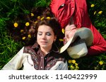 love story in cowboy's style. | Shutterstock . vector #1140422999