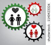family symbol with heart.... | Shutterstock .eps vector #1140423326