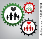 family symbol with heart.... | Shutterstock .eps vector #1140423350