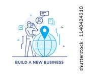businessman making a call... | Shutterstock .eps vector #1140424310