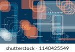 tech background. colorful... | Shutterstock .eps vector #1140425549