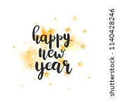 happy new year lettering with... | Shutterstock .eps vector #1140428246