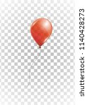red helium balloon on... | Shutterstock .eps vector #1140428273