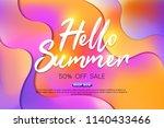 summer sale background layout... | Shutterstock .eps vector #1140433466