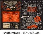 pizza restaurant menu. food... | Shutterstock .eps vector #1140434636
