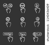 app buttons chalk icons set.... | Shutterstock .eps vector #1140436409