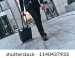 business travel. close up of... | Shutterstock . vector #1140437933