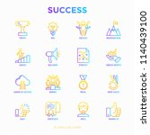 success thin line icons set ... | Shutterstock .eps vector #1140439100