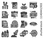 vector investment icons set.... | Shutterstock .eps vector #1140441503