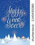 hand drawn winter illustration... | Shutterstock .eps vector #1140450380