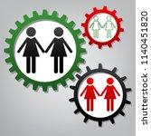 lesbian family sign. vector.... | Shutterstock .eps vector #1140451820