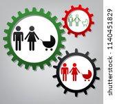 family sign illustration.... | Shutterstock .eps vector #1140451829