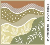 nature scarf pattern design | Shutterstock .eps vector #1140455816
