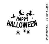 happy halloween. typography set.... | Shutterstock .eps vector #1140456356