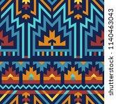 vector seamless tribal pattern. ... | Shutterstock .eps vector #1140463043