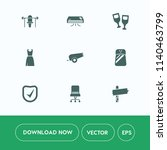 modern  simple vector icon set... | Shutterstock .eps vector #1140463799
