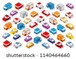 colorful 3d isometric set | Shutterstock . vector #1140464660