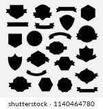 heraldry shield banner | Shutterstock . vector #1140464780
