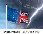 merging european and british... | Shutterstock . vector #1140465440