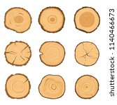 set of round cross sections of... | Shutterstock .eps vector #1140466673
