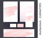 corporate identity templates... | Shutterstock .eps vector #1140467393