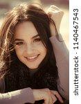 dental care  stomatology. woman ...   Shutterstock . vector #1140467543