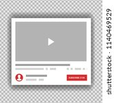 new video channel app interface ... | Shutterstock .eps vector #1140469529