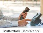 communication support concept ... | Shutterstock . vector #1140474779