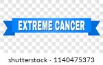 extreme cancer text on a ribbon.... | Shutterstock .eps vector #1140475373