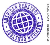 american cemetery stamp... | Shutterstock .eps vector #1140475496