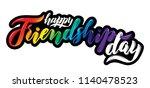 vector illustration lettering.... | Shutterstock .eps vector #1140478523