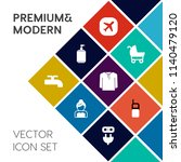 modern  simple vector icon set... | Shutterstock .eps vector #1140479120