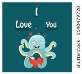 octopus  love  vector... | Shutterstock .eps vector #1140479720