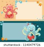 octopus  love  vector... | Shutterstock .eps vector #1140479726