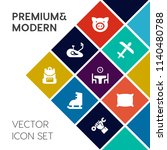 modern  simple vector icon set... | Shutterstock .eps vector #1140480788