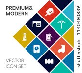 modern  simple vector icon set... | Shutterstock .eps vector #1140480839
