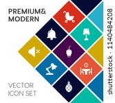 modern  simple vector icon set... | Shutterstock .eps vector #1140484208