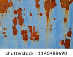 Small photo of Rust on blue metal.