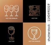 vector logo design element and... | Shutterstock .eps vector #1140490319