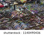 many different various hair... | Shutterstock . vector #1140490436