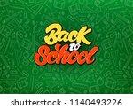 back to school celebrate in... | Shutterstock .eps vector #1140493226