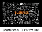 management concept with doodle... | Shutterstock .eps vector #1140495680