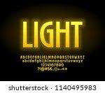 vector yellow light glowing... | Shutterstock .eps vector #1140495983