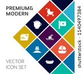 modern  simple vector icon set... | Shutterstock .eps vector #1140497384