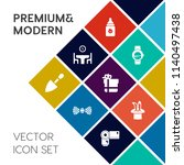 modern  simple vector icon set... | Shutterstock .eps vector #1140497438
