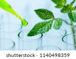 pipette over test tube dropping ... | Shutterstock . vector #1140498359