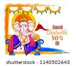 illustration of lord ganpati... | Shutterstock .eps vector #1140502643